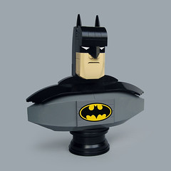 Lego Batman Animated bust (Fredoichi) Tags: sculpture art comics lego character bust batman animation movies animated rendition animatedseries fredoichi