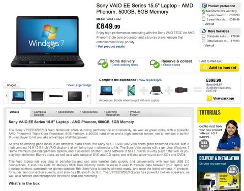 Best Buy product page