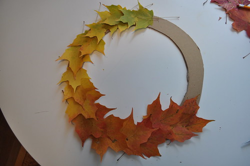 Leaf Wreath - Planning out colors