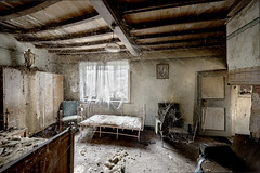 """""""Why did you do all this for me?' he asked. 'I don't deserve it. (Matthew Hampshire) Tags: spiders webs decay bedroom"""