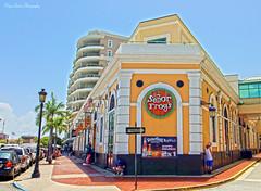 San Juan, Puerto Rico (Paige Larissa Photography) Tags: building outside buildings puerto rico cruises cruise cruising puertorico yellow street streets follow like comment sanjuan vacation culture cultures senorfrog