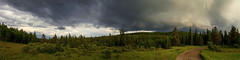 Stormy Pano (Len Langevin) Tags: alberta canada kananaskis rockies rocky mountains storm thunder clouds panorama landscape cloudscape skyscape samsung galaxy s6