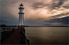 Newhaven Harbour Lighthouse (Stephen Sinclair Photography) Tags: lighthouse newhaven water long exposure clouds harbour nikon full frame lee big stopper