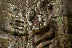 Faces of Bayon, Angkor (Siem Reap, Cambodia) (EpiVin) Tags: trip travel sculpture green film face statue rock stone digital canon temple ancient travels asia cambodia khmer faces buddha religion tomb towers landmark angkorwat empire thom traveling spiritual angkor tombraider worldheritage bayon angkorthom raider jayavarman siemreab canonefs1785mm reab 40d khmerempire southeastaisa canoneos40d