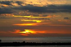 Sunrise (Steve-h) Tags: sun man stone clouds sunrise geotagged dawn pier spain marbella steveh canoneos500d geo:lat=36506742 geo:lon=4884189