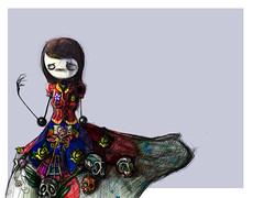 -A. ( Ernesto Fidel Romero Bayter) Tags: art lady illustration de dead mexico skull los arte drawing colores days fidel fantasia muertos dibujo calaveras ilustrao disegno illustratie ilustracin messico  illustracion illustrazione   illstrasyon mirandote ilustrao