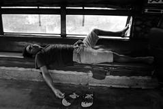jeepney suite (.emong) Tags: street city people urban bw monochrome lumix sleep candid philippines documentary panasonic manila jeepney mandaluyong lx3 mauway