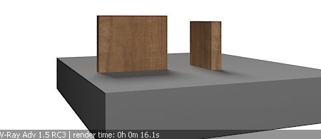 area shadow vray