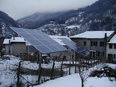 Inseguitore fotovoltaico solare 14 moduli
