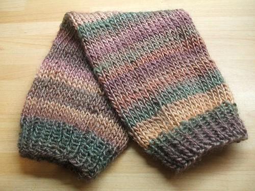 Stripy tapestry legwarmers