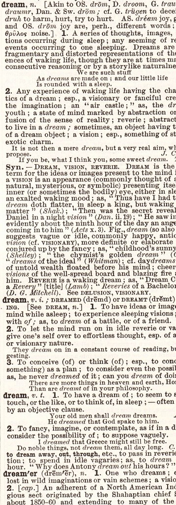 dream dictionary definition d page crop copy