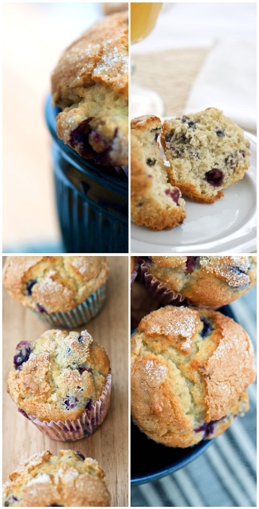 blueberry muffin collage
