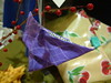 Purple Origami Butterfly Ornament 1
