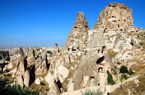 uchisar castle, cappadocia