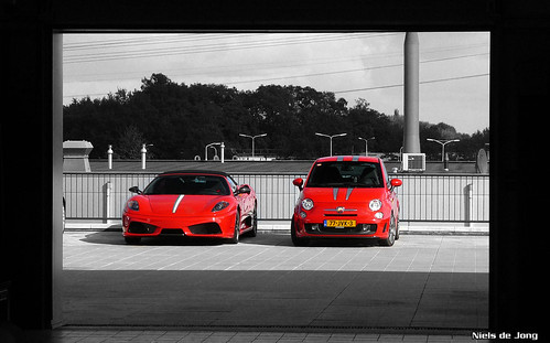 Ferrari 16m and Abarth 500