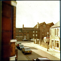 From a Tooley Street Bedroom window, September 1979 (tatraskoda) Tags: old urban 120 6x6 tlr mediumformat geotagged town historic lincolnshire mg lubitel2 lubitel 1970s lancia gilberts gainsborough twinlensreflex tooleystreet russiancamera bridgestreet 10millionphotos whittons commiecamera hethershaws geo:lat=53395943 geo:lon=0775242 blandburgess