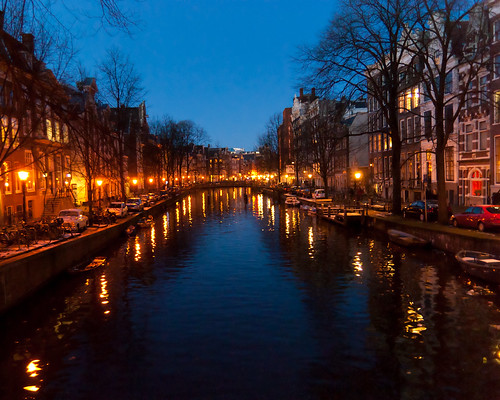 Amsterdam Canal on New Year's Eve