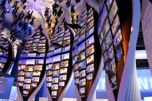 Samsung HDTV display at CES 2010 2