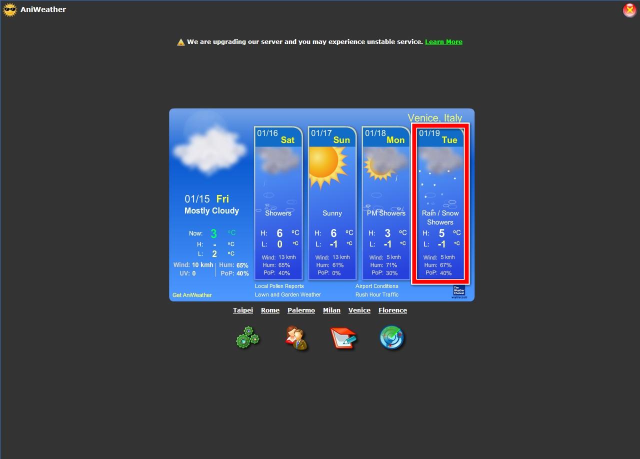 原來威尼斯會下雪啊!!