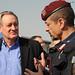 U.S. Senator Mike Crapo talks with Brig. Gen. Carmelo Burgio during a tour