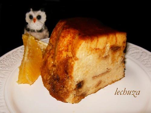 Budín de panettone-porción