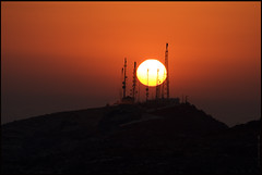 Tsada telecommunications sunset (-Filippos-) Tags: sunset sun hill cyprus august 2008 aerials paphos cyta tsada
