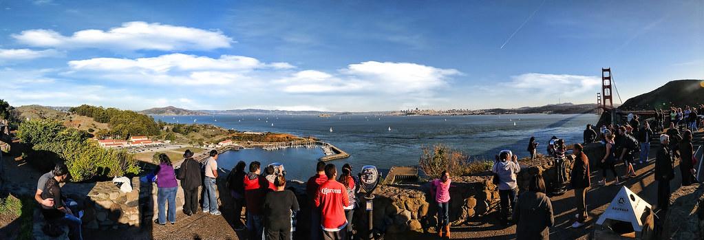 View from the Golden Gate Bridge Vista Point