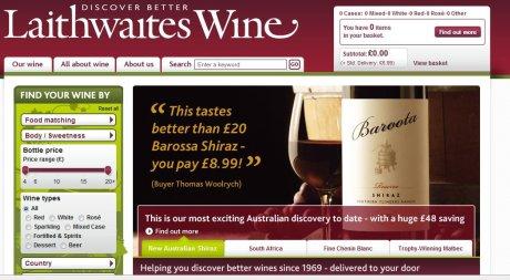 Laithwaites homepage