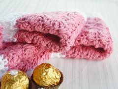 Valentine Cloths (mikkers!) Tags: handmade crochet valentine dishcloth cotton washcloth