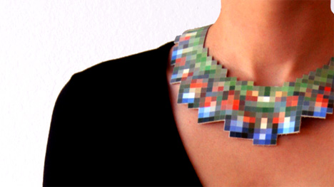 pixelated jewelry