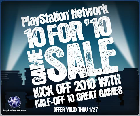 10 For '10 PSN Game Sale!