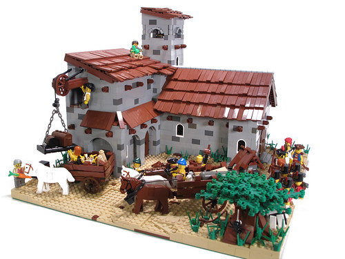 LEGO Spanish colonial building