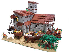 Colonial Town Center (Regonold) Tags: roof 3 town midwest lego iii great center spanish cart plains ageofempires aoeiii sirregonold