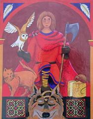 Vidar the Silent (Thorskegga) Tags: art painting god thorn viking mythology myth pagan norse heathen asatru heathenry thorskegga