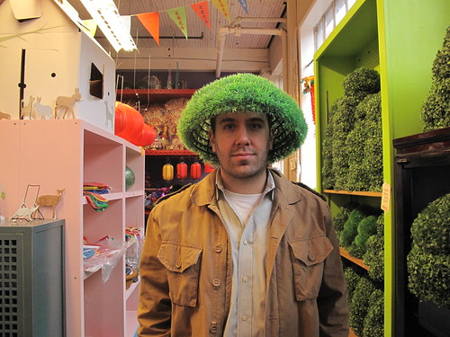 Justin with topiary hat