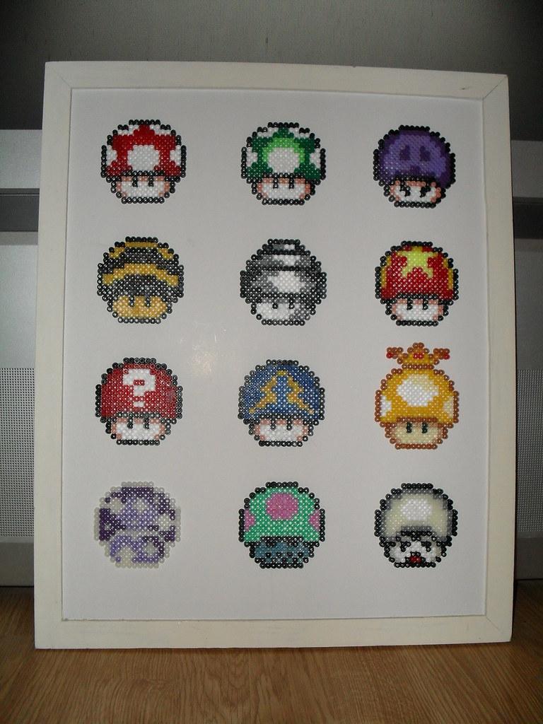 Mario Mushrooms 2 Close Up