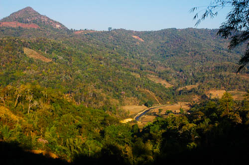 A view of the countryside outside Mae Lana, a village in Mae Hong Son, northern Thailand