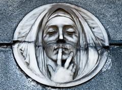 Silence (Guillote1974) Tags: cemetery graveyard maria mary cementerio recoleta nurse churchyard virgen silencio enfermera cementeriorecoleta bajorelieve iconoreligioso