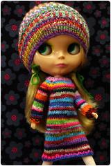 scrap yarn stripes ^.^