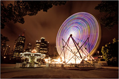 I had a Wheel good time in Australia (Extra Medium) Tags: longexposure night downtown australia melbourne kangaroo koala ferriswheel 2010 venuswilliams fernandogonzalez jowilfriedtsonga sirenawilliams