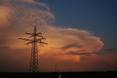 Thunderstorms at Sunset (navnetsio) Tags: sunset orange holland colour netherlands weather nederland ens thunderstorm lightning noordoostpolder polder thunder flevoland bui oranje thunderstorms donder weer wolk onweer bliksem weerwoord weerwoordbe