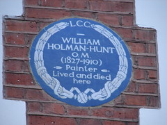 Photo of William Holman-Hunt blue plaque
