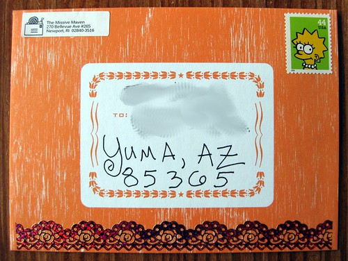 Orange Hammerpress envelope
