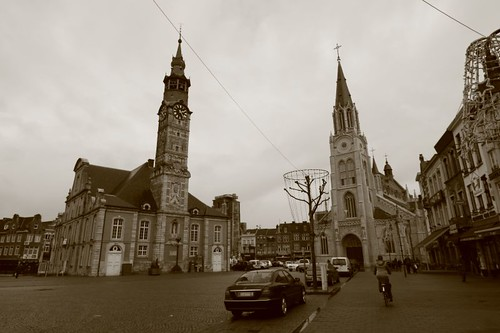 Sint Truiden central square...