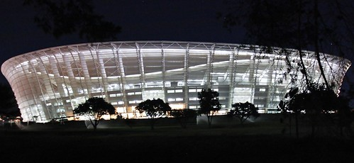 World Cup Stadium 2010, Cape Town, South Africa by night