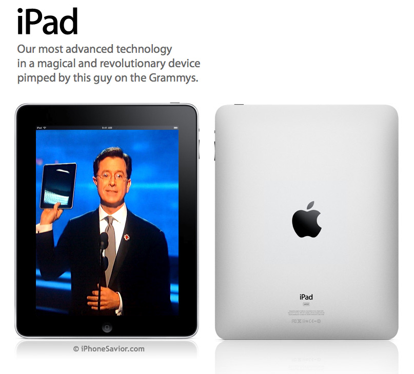 Apple iPad by Stephen Colbert
