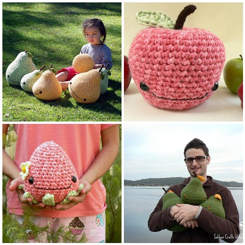 Giant Crocheted Fruits