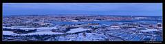 Winter in Copenhagen 2010 (frederikjimenez.com) Tags: blue panorama snow by vinter harbour january windy wideangle highpoint handheld photomerge kata fullframe permission kbenhavn januar sandisk 2010 sne vand cityview 5shots cs4 icecold likeit firstpanorama minby bybillede d700 iskoldt 1424mm iamflickr nikonfx blsende frederikjimenezcom