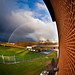 A beautiful double rainbow appeared on campus one afternoon.