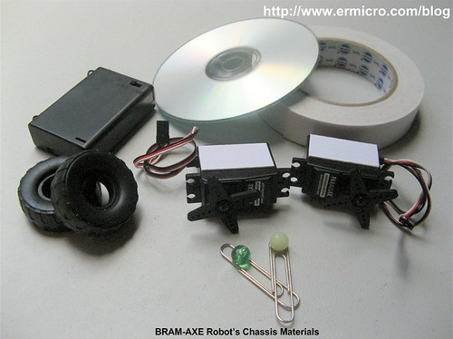 Build Your Own Simple and Easy PICAXE Microcontroller Based Photovore Robot  02